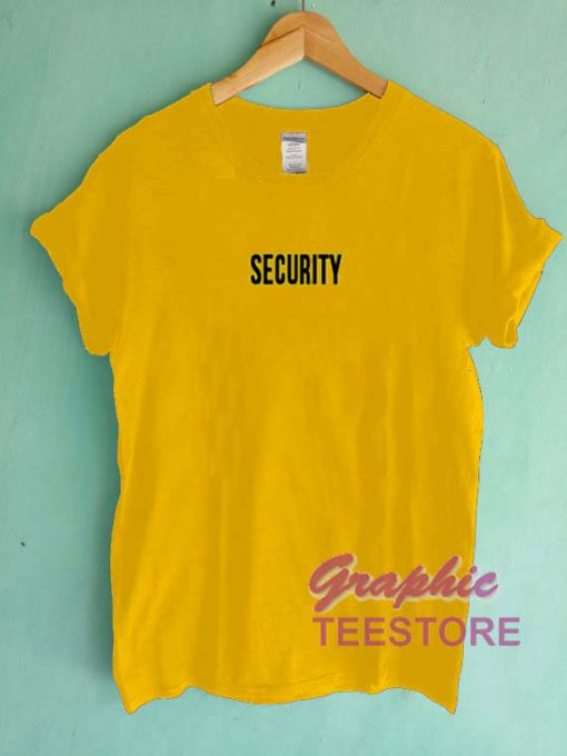 Security Graphic Tee Shirts
