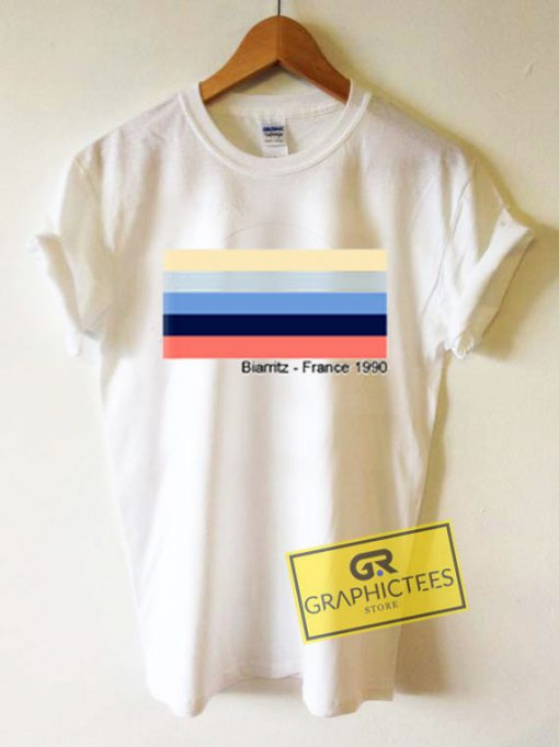 Biarritz France 1990 Graphic Tee Shirts
