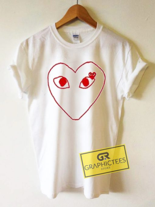 Comme Des Garcons Play Graphic Tee Shirts