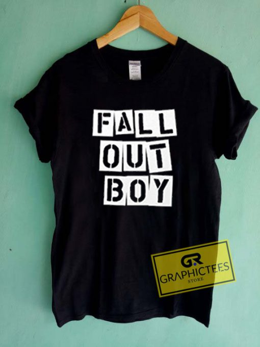 Fall Out Boy Logos Graphic Tee Shirts