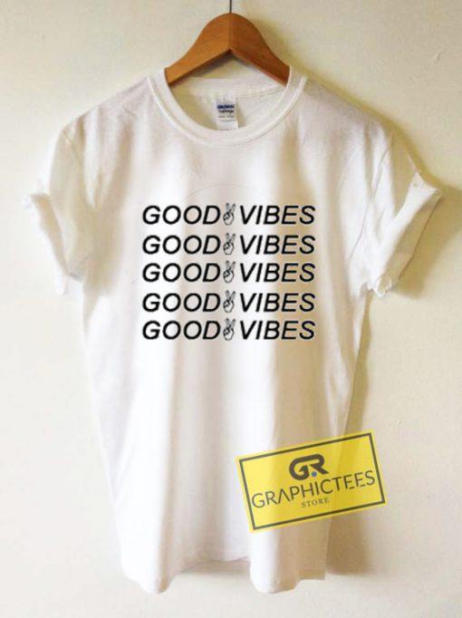 Good Vibes Peace Graphic Tee Shirts