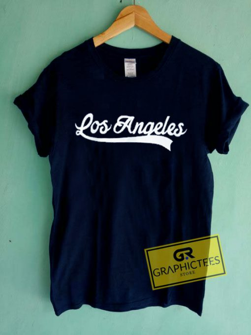 Los Angeles Font Graphic Tee Shirts