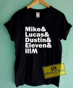 Mike Lucas Dustin Eleven Will Graphic Tee Shirts