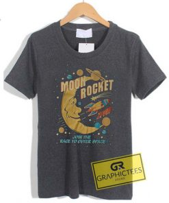 Moon Rocket Graphic Tee Shirts