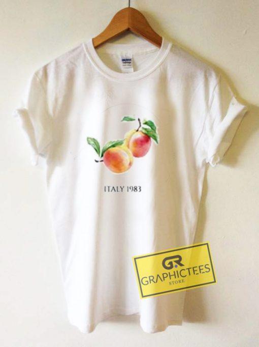Peach Italy 1983 Graphic Tee Shirts