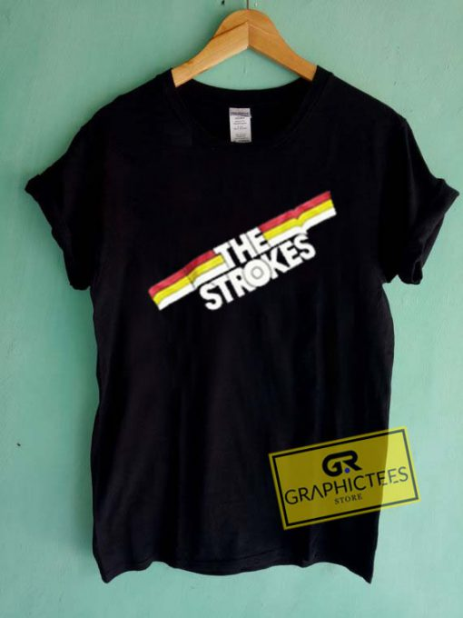 The Strokes Striped Graphic Tee Shirts