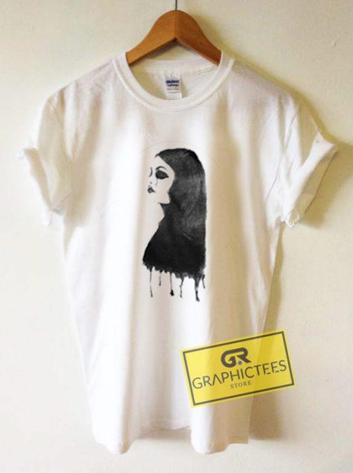 Women Cry Art Graphic Tee Shirts