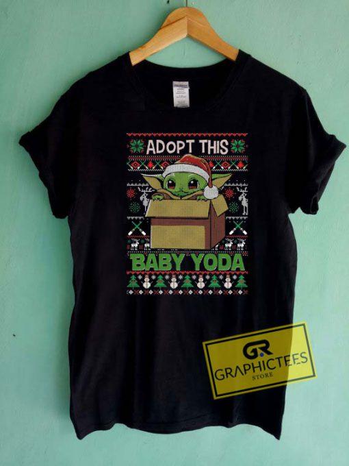 Adopt Baby Yoda Christmas Tee Shirts