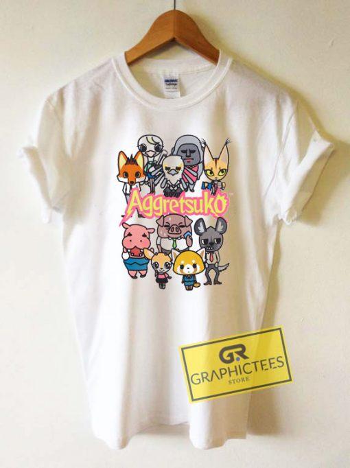 Aggretsuko Characters Tee Shirts