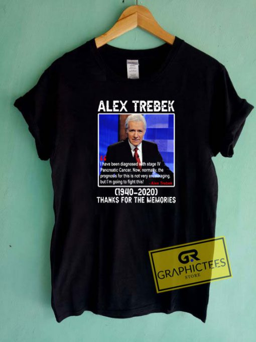 Alex Trebek Thanks For The Memories Tee Shirts
