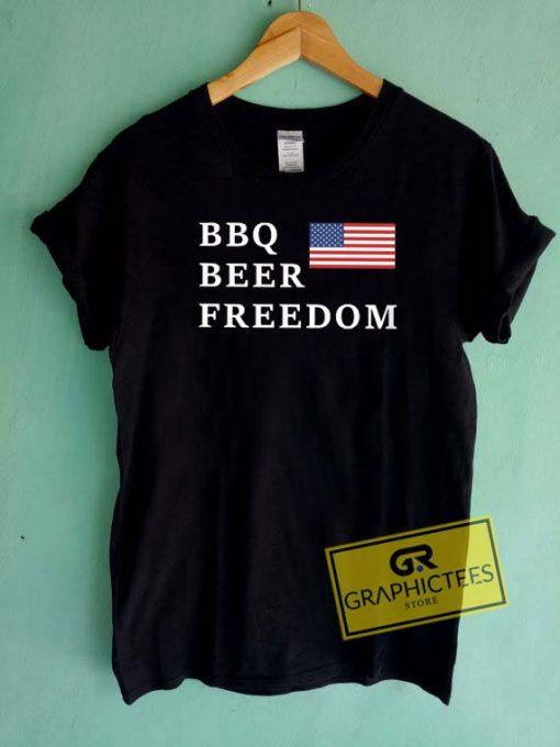 BBQ Beer Freedom Usa Flag Tee Shirts