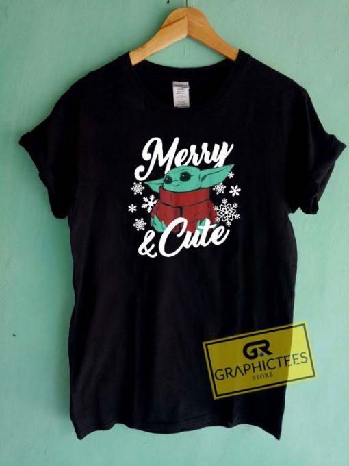 Baby Yoda Merry N Cute Tee Shirts