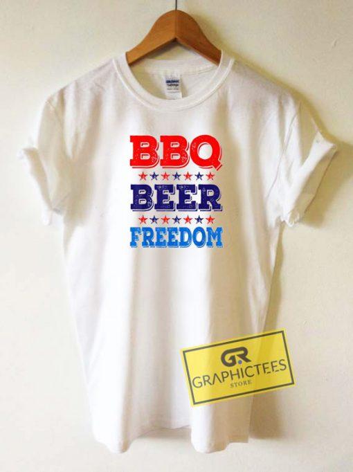 Bbq Beer Freedom Tee Shirts