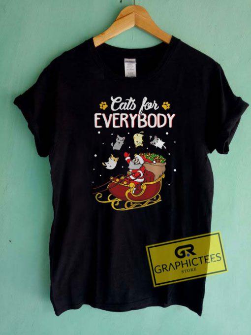 Cats For Everybody Santa Christmas Tee Shirts