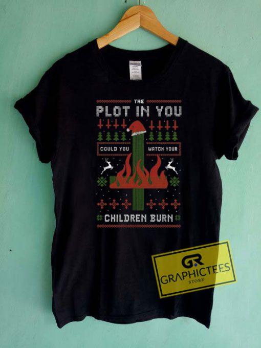 Children Burn Christmas Tee Shirts