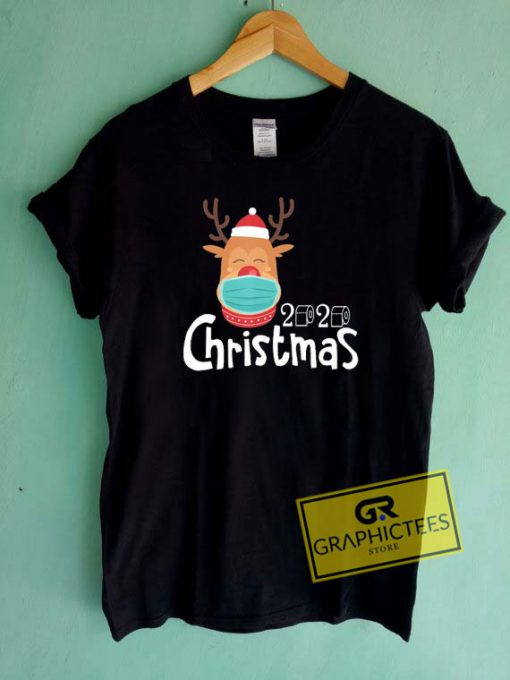 Christmas 2020 Reindeer Mask Tee Shirts