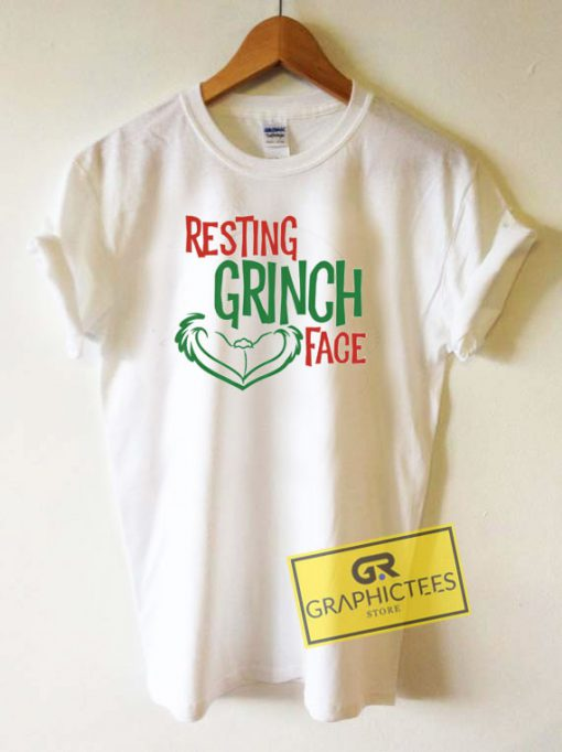 Christmas Resting Grinch Face Tee Shirts