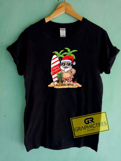 Christmas Santa Hawaiian Surfing Tee Shirts