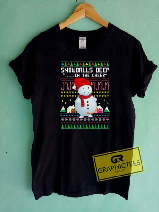 Christmas Snowballs Deep Tee Shirts