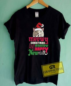 Christmas n New Year Cat Tee Shirts