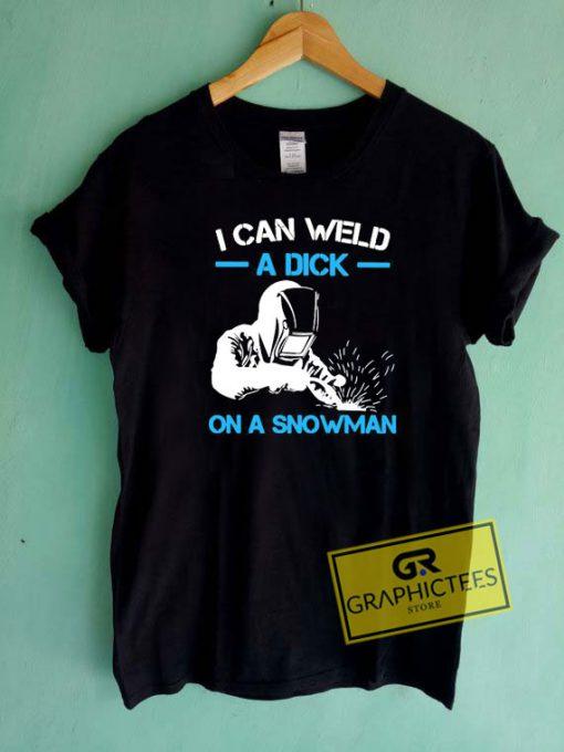 Dick On A Snowman Tee Shirts