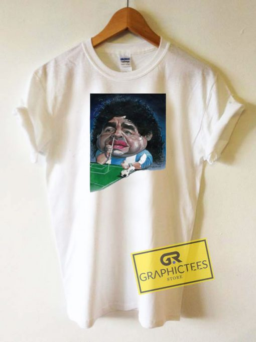 Diego Maradona Caricature Tee Shirts