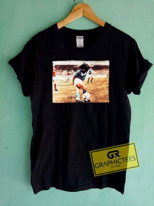 Diego Maradona Retro Photo Tee Shirts