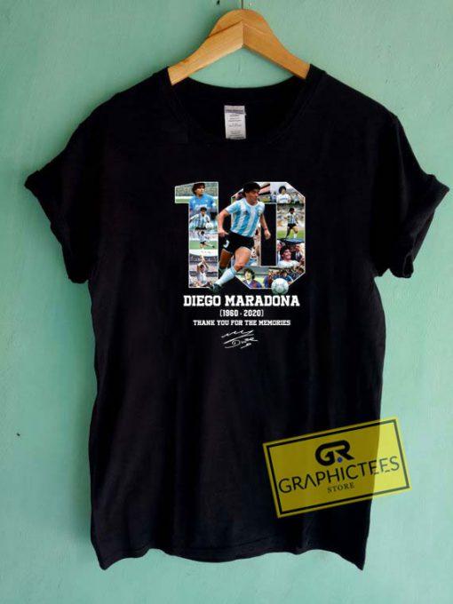 Diego Maradona The Memories Tee Shirts