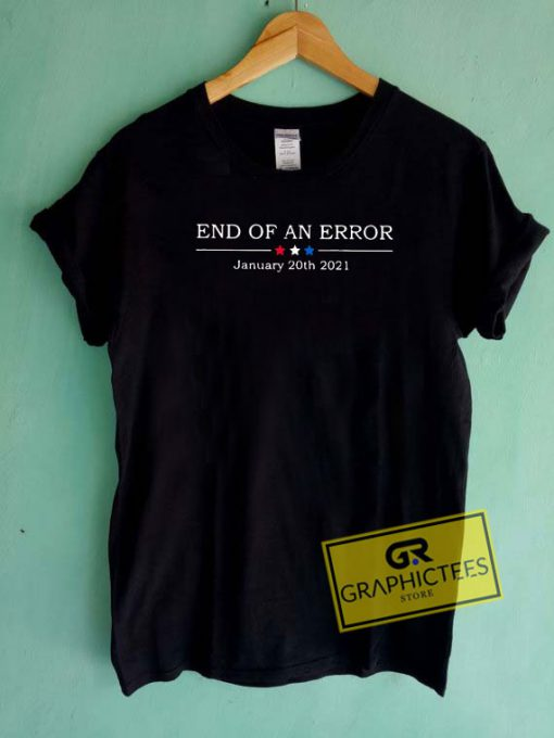 End Of An Error Linen Art Tee Shirts