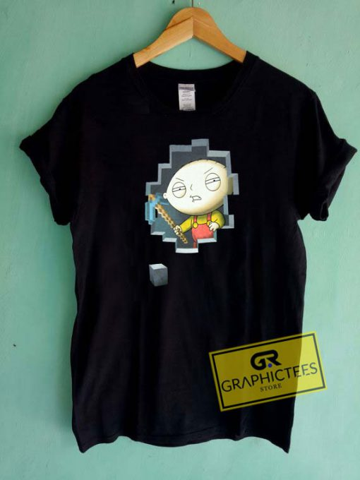 Family Guy Stewie Miner Tee Shirts