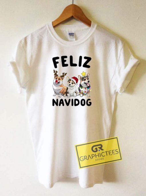 Feliz Navidog Pug Tee Shirts