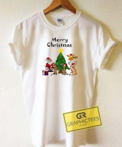 Friends Merry Christmas Cartoon Tee Shirts