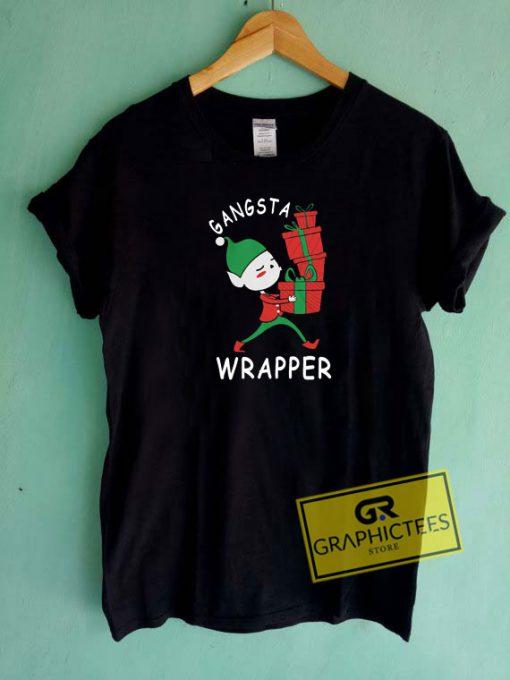 Gangsta Wrapper Elf Christmas Tee Shirts