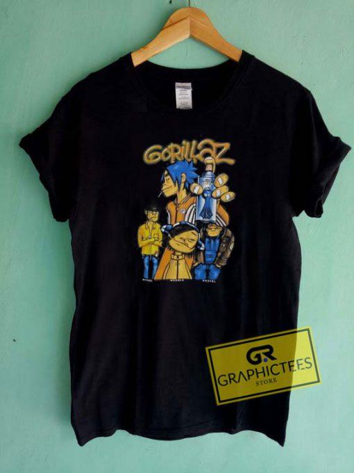 Gorillaz Characters Tee Shirts