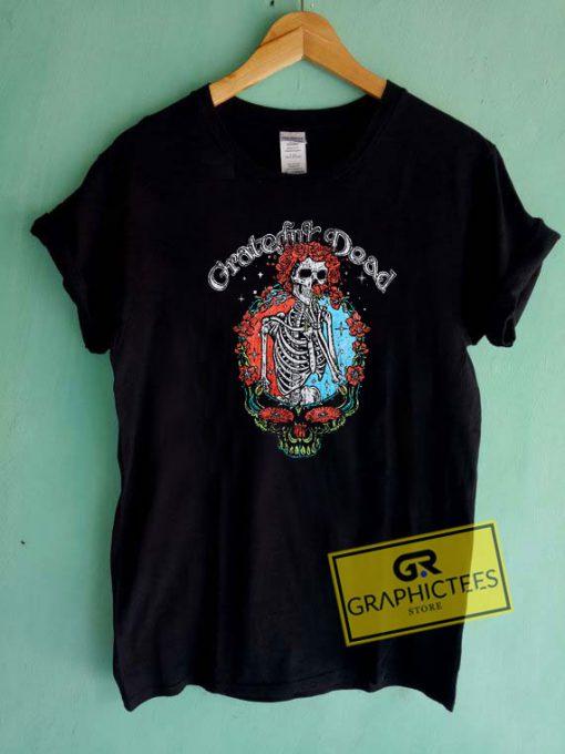 Grateful Dead Floral Skull Tee Shirts
