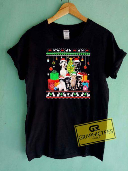 Great Danes Christmas Tee Shirts