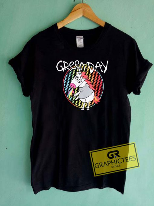 Green Day Unicorn Tee Shirts