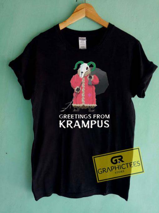 Greetings From Krampus Tee Shirts