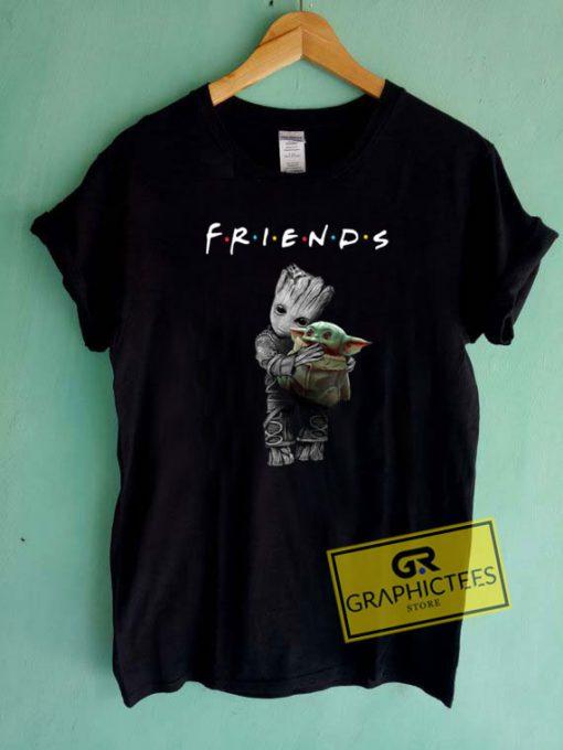 Groot Hug Baby Yoda Friends Tee Shirts