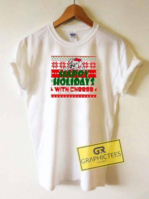 Happy Holidays With Cheese Xmas Tee Shirts