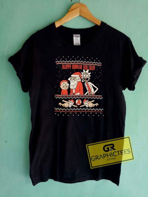 Happy Human Holiday Christmas Tee Shirts