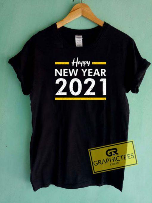 Happy New Year 2021 Stripe Tee Shirts