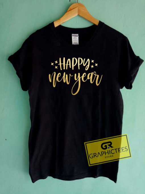 Happy New year Lettering Tee Shirts