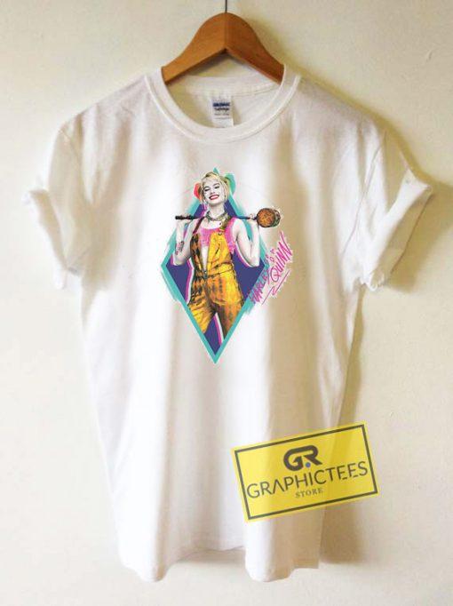 Harley Quinn Neon Diamond Autograph Tee Shirts