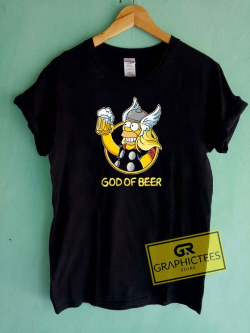 Homer God Of Beer Tee Shirts