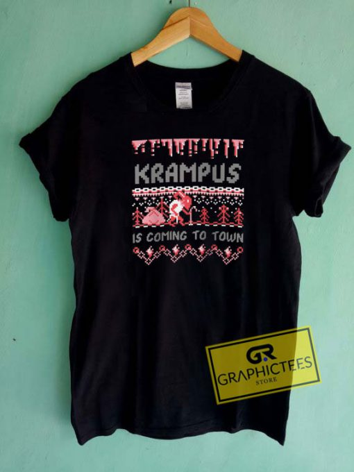 Krampus Is Coming To Town Tee Shirts