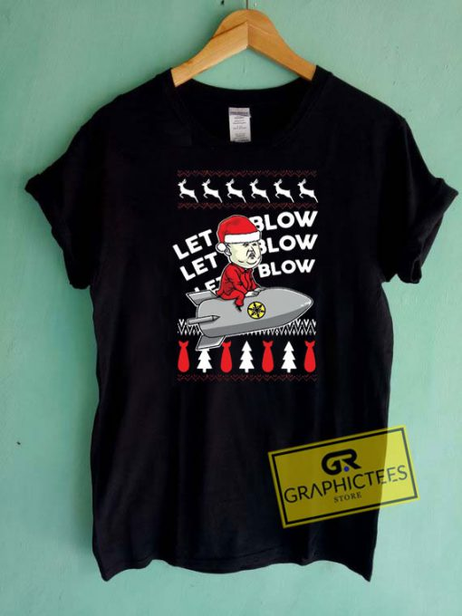 Let It Blow Christmas Tee Shirts