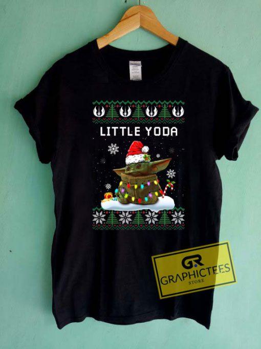 Little Yoda Christmas Tee Shirts