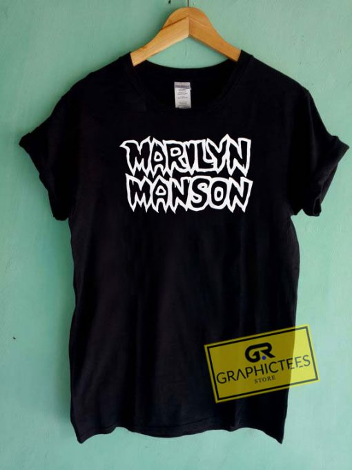 Marilyn Manson Logo Tee Shirts