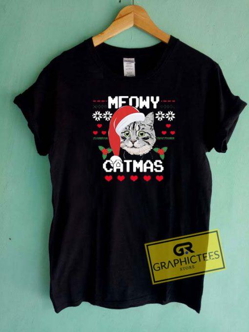 Meowy Catmas Tee Shirts